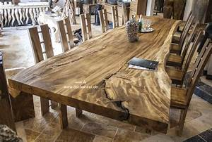 Massivholzplatte Mit Baumkante : esstisch aus einem baumstamm der tischonkel ~ Markanthonyermac.com Haus und Dekorationen