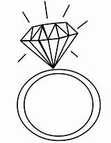 Ring Diamond Yellow Clipart Engagement Clip Coloring Pages Jewelry Cliparts Library Clker Ariel Print Vector Getdrawings Coloringtop sketch template