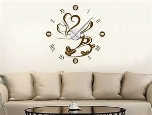 Wohnzimmer Uhren Stehend : wandtattoo uhr kaffeezeit wanduhr wandtattoo de ~ Indierocktalk.com Haus und Dekorationen