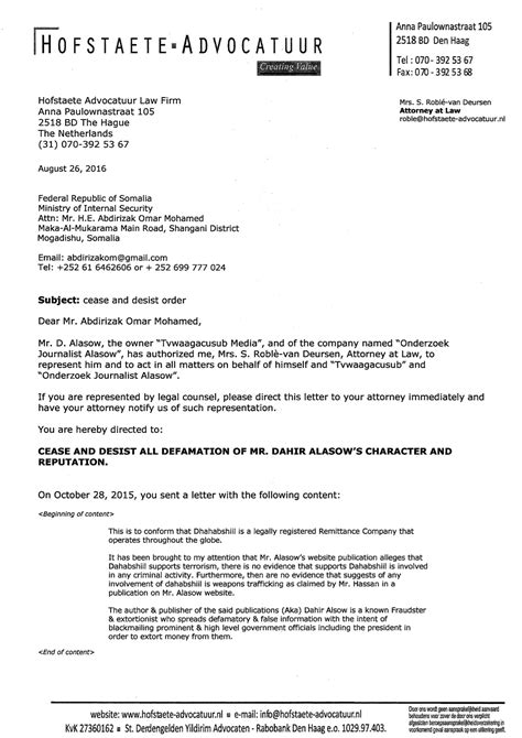 sle cease and desist letter defamation of character letter template 28 images
