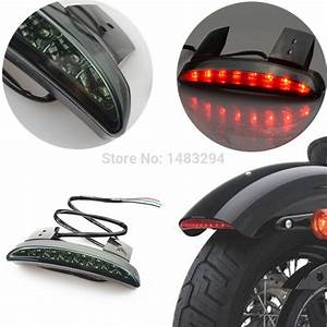 All new motorcycle smoke lens rear fender edge led tail light fits for harley davidson iron