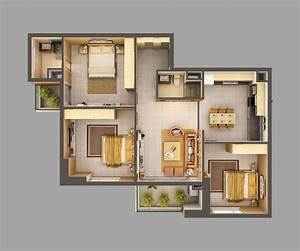 3d, Model, Home, Interior, Fully, Furnished, 3d, Model, Max