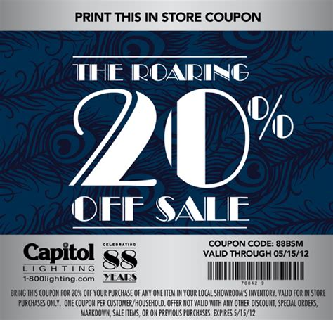 capitol lighting coupon the roaring 20 off sale