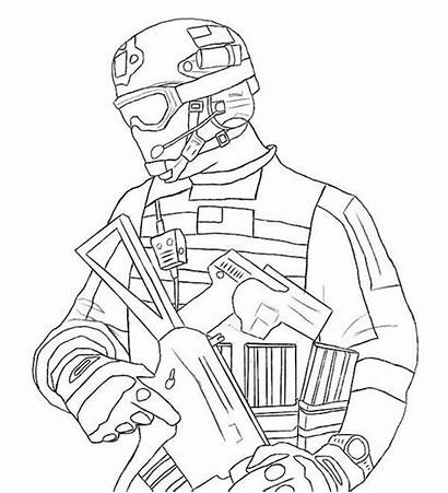 Duty Call Coloring Warfare Pages Modern Drawing