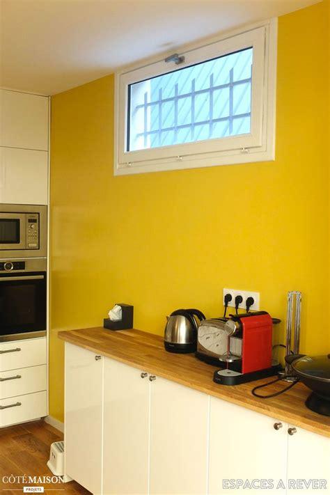cuisine mur jaune davaus cuisine jaune et marron ikea avec des idées