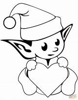 Elf Coloring Elves Pages Christmas Printable Drawing Simple Outstanding Nice Shelf Colouring Colorings Getdrawings Clipartmag Drawings Adult Pretty sketch template