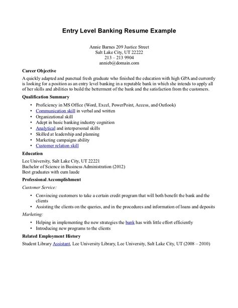 Model Resumes For Bank by Resume Of Banker Cover Letter Exle Resume Investment