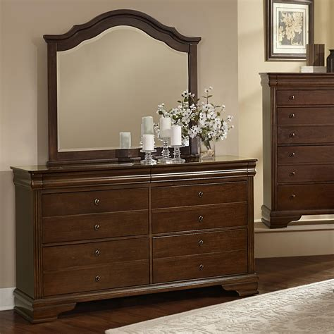 Vaughan Bassett Dresser With Mirror by Vaughan Bassett Market Dresser Arched Mirror