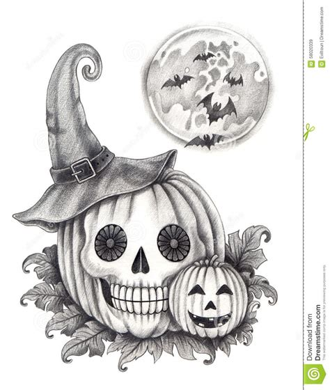 halloween pumpkin pencil drawing festival collections