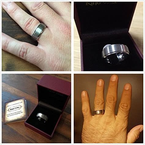 basic rings s tungsten carbide 8mm polished beveled