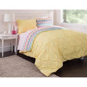 latitude pintuck comforter set to chevron complete bedding set yellow walmart com