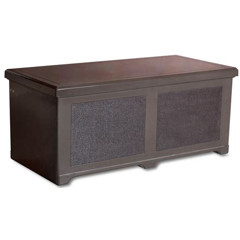 designer chests fiberglass outdoor storage chest walnut