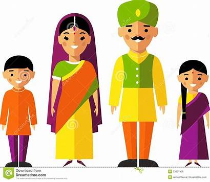 Indian Vector Clothes Illustration National Clipart Traditional