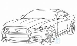 Mustang Car Drawing at GetDrawings   Free download