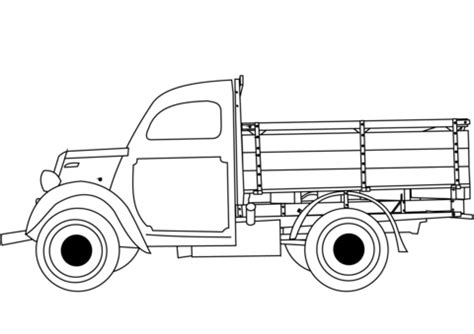 classic truck coloring page  printable coloring pages