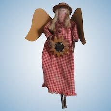 sarah morton  silhouette spindle artist doll  mary