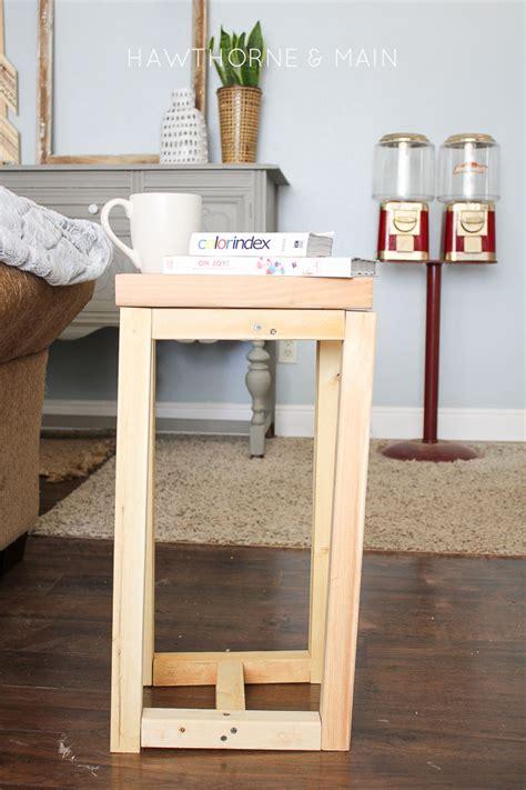 diy wood end table simple diy wood side table