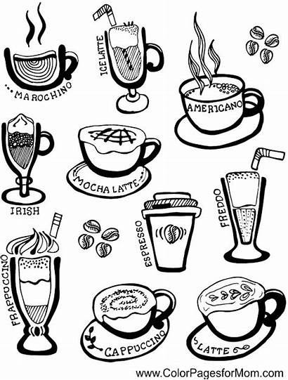 Coffee Coloring Pages Adult Cup Adults Wine