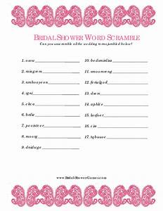 7 best images of printable word scramble template free With templates for bridal shower games