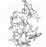 Cartoon Man Bass Outline Fish Coloring Vector Hugging Clipart Fishing Cool Leishman Ron sketch template