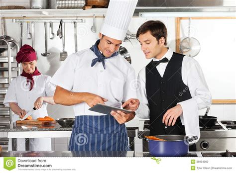 la cuisine du chef tablette d 39 and chef digital de serveur dans la