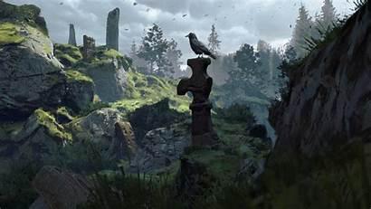 Raven Gifs Artstation Valley Artwork Medieval