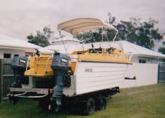 Boat Fuel Tank For Sale Qld by Shark Cat Hull Boat For Sale Qld Burrum Heads Sold