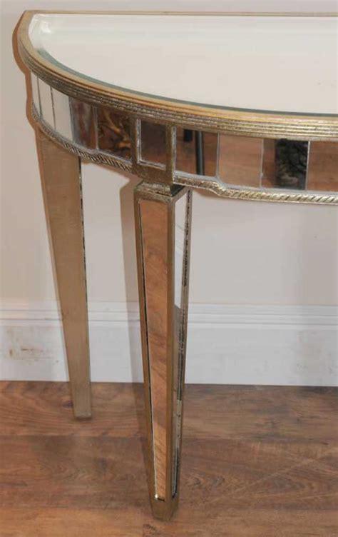 table demi lune cuisine deco mirrored console table demi lune tables