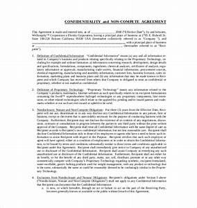 business non compete agreement business non compete With business templates noncompete agreement