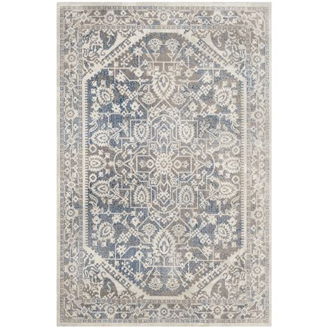 blue grey area rug safavieh patina gray blue area rug reviews wayfair