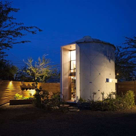 grain silo converted   cozy  square foot small