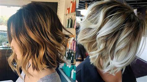 Balayage Short Bob Hairstyles & Haircuts For 2018