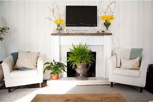 10 ways to decorate your fireplace in the summer since for Decorating around a fireplace