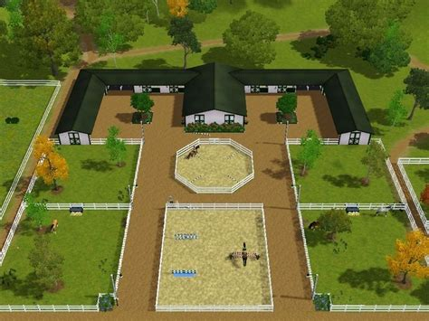 Amazing Stable Setup. Just Smaller, More Fields, Dressage