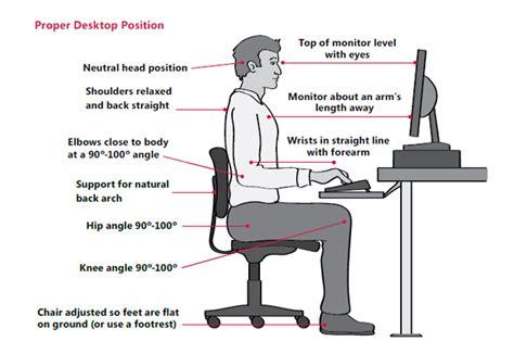 ergonomic sitting at desk proper desk posture best home design 2018
