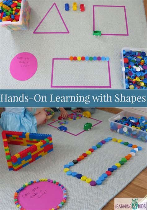 on learning shapes activities learning 4 252 | Hands on learning with basic shapes. Lots of fun and motivating ideas for kids
