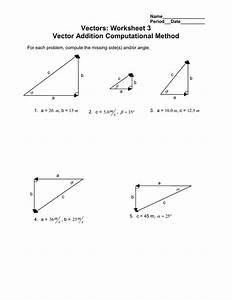 Vectors  Worksheet 3 Vector Addition Computational Method
