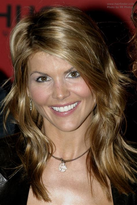 lori loughlin long hairstyle  layers cut thoughout