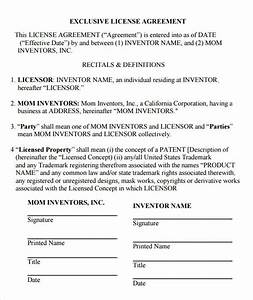 sample license agreement template 9 free documents in With photo license agreement template