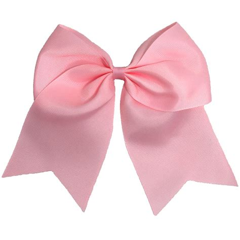 light pink cheer bow  girls  large hair bows