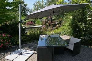 sonnenschirme und co sonnenschutz im garten With französischer balkon mit hand sonnenschirm mit uv schutz