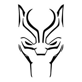 black panther  stencil  stencil gallery