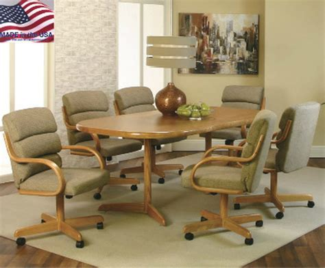 kitchen table with chairs on wheels kitchen dinette sets with caster chairs wow