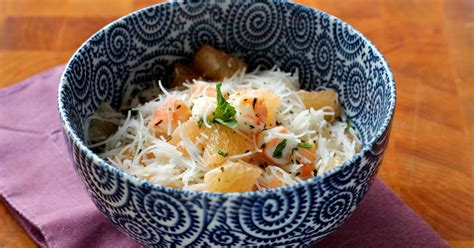 recette salade legere au pamplemousse crevettes