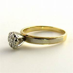daisy diamond affordable engagement ring and wedding set With beautiful affordable wedding rings