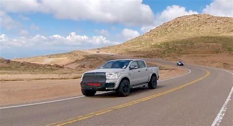 ford ranger raptor prototype driving  fast lane