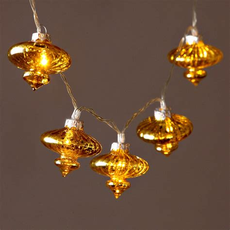 lights lit decor string lights decorative vintage gold glass lantern battery string