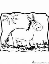 Donkey Coloring Pages Animal Mule Printable Jr Cartoon Balaam Craft Sheet Getcoloringpages Popular Classroom sketch template
