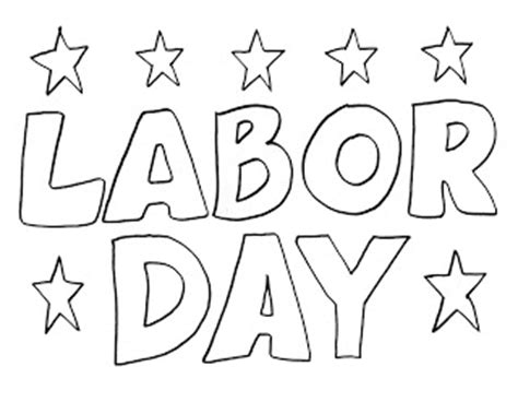 Labor Day Coloring Page - Eskayalitim