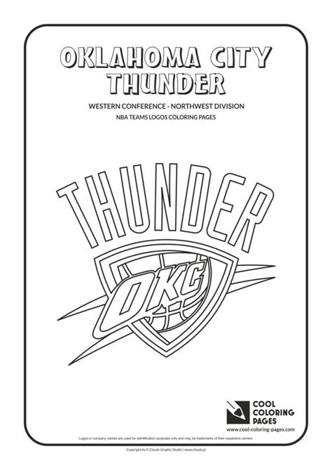 cool coloring pages oklahoma city thunder nba basketball